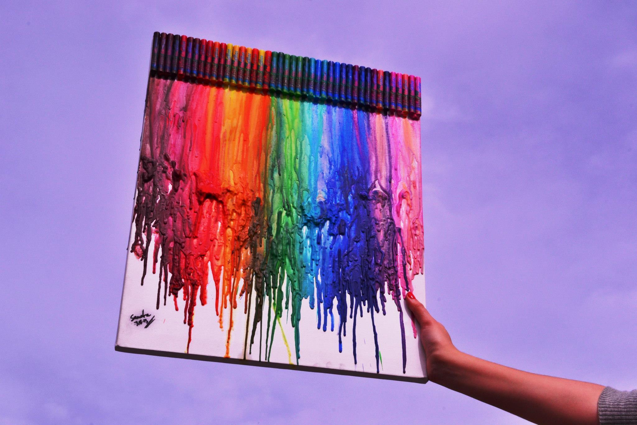 DIY: cuadro de crayones. |